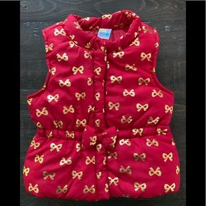 NWOT Healthtex red & gold puffer vest
